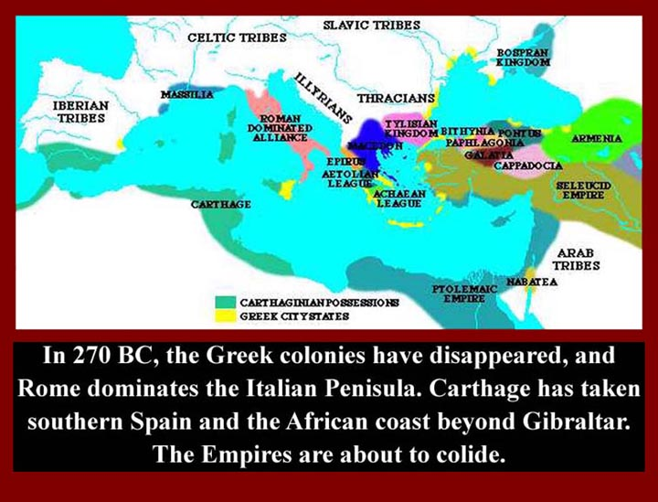CNAfUnit3FirstPunicWar Carthage Rome Map on