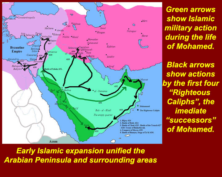 //www.mmdtkw.org/CRUS-Unit1Images Maps Early Muslim Conquests on early muslim world map, spanish conquest of mexico map, al-andalus map, arab islamic conquest map, early muslim travel map, early muslim history map,