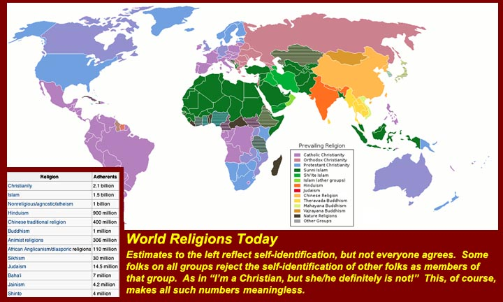 Spread Of World Religions Map Timekeeperwatches - World religion map before islam
