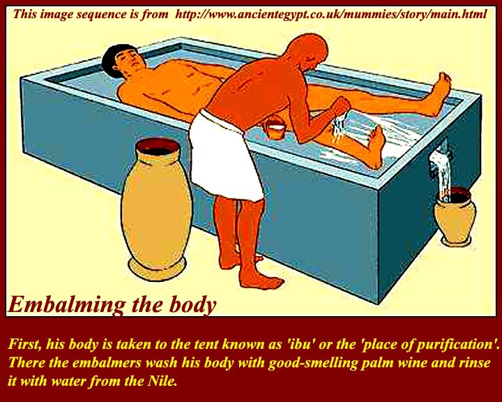 the embalming process of the ancient egyptians How did ancient egyptians prepare a body for burial witness the elaborate process of mummification in this slide show.