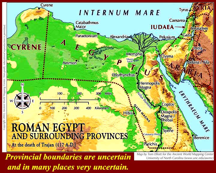 EGtkwAlexandrinesPtolemiesRomanshtml - Egypt and rome map