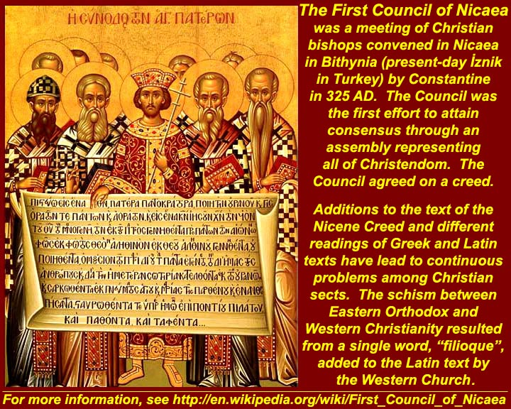 the council of nicea The nicene creed, the most authoritative statement of faith in christian history, may need a second look.