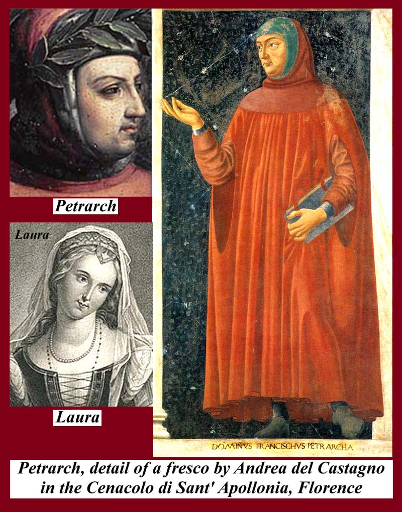 petrarcha and laura And petrarca himself had a favour for his idol laura on the day presisely long 21  years and therefore for daphne, which transformed into a laurel laura – laurel.