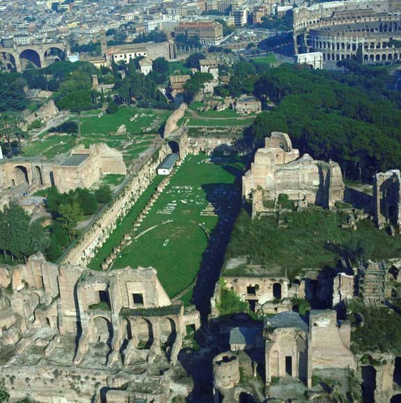 Palatine Hill When The Crowds In The Roman Forum Get Too