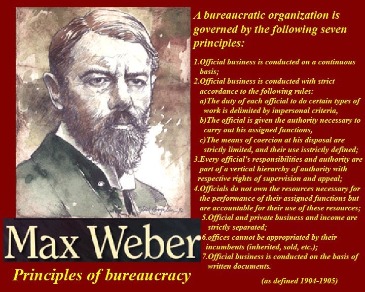 essays on max weber bureaucracy